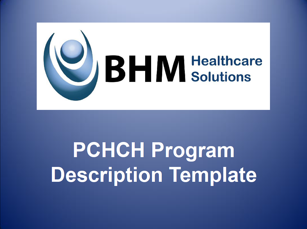 PCHCH Program Description Template