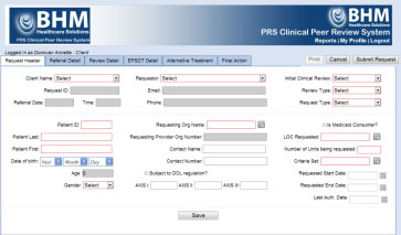 BHM Physician Peer Review Technology