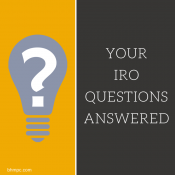 12 Common IRO Questions Answered