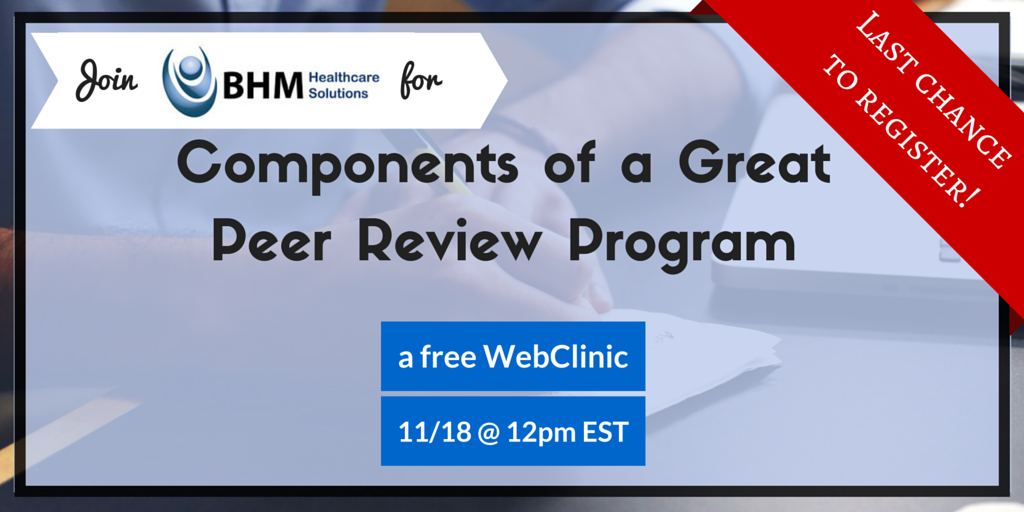 Free Webinar on Peer Review Programs in Healthcare