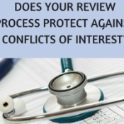 Does your review process protect against conflicts of interest?